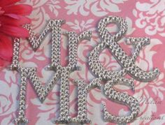 Crystallized Mr And Mrs Cake Topper $40