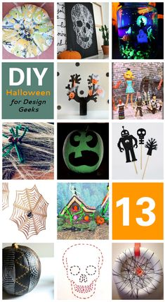 13 DIY Halloween Decorations {for DESIGN GEEKS}  | These projects will satisfy either your thirst for a designerly Halloween craft OR the inner nerd you've been suppressing all year long!