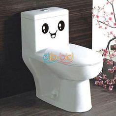 Smiling Face DIY Cute Wall Bathroom Sticker Creative Home Decor Toilet Cartoon | eBay