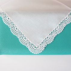 Crochet Lace Edge Handkerchief Is Perfect For Weddings And Gifts Custom Thread Coloronograms