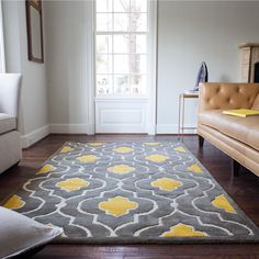 Yellow Rug Quirky Tips Newbuild London Bright Decor Pinterest And