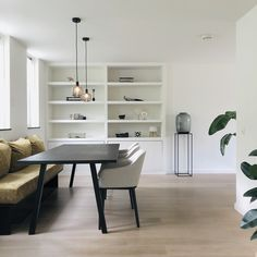 Thuis bij Fleur • Interieur design by nicole & fleur #maatwerk #interieurontwerp #interieurdesign #kastopmaat #eetkamer #karwei #vitra Metal Table Legs, Beautiful Space, Cool Diy, Decoration, Home Kitchens, Cribs, Sweet Home, Dining Room, Home And Garden