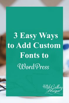 One of the major design aspects of a website is adding your custom fonts. There are 3 ways to add your custom font of choice. They are Google Fonts, Fonts from design sites such as Creative Market and Adobe Typekit.