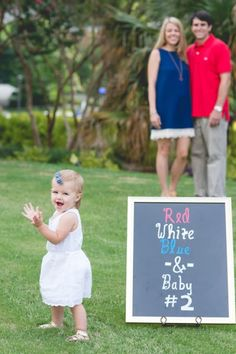 Red, White, Blue, and.... Baby #2!