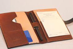 The Wade - Custom Minimalist Horween Leather Doctor or Nurse Prescription Pad Folio