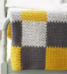 Softee Chunky - Patchwork Blanket Free Crochet Pattern by swilli52