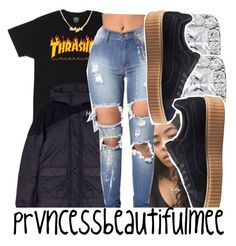 """〽️"" by prvncessbeautifulmee ❤ liked on Polyvore featuring Hood by Air and Puma"