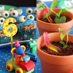 Krümelmonster-Muffins und süße Regenwürmer PamyLotta: Kinderparty!