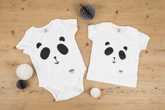 Panda Bear face screen printed