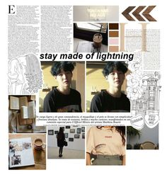 """""""dream made of lightning"""" by the-neon-rose on Polyvore featuring art and btspolyvorearmy"""