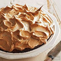 Here a fluffy springtime meringue comes to harvest season with the addition of pumpkin and traditional spices. The Brown Sugar Meringue completes the recipe. /