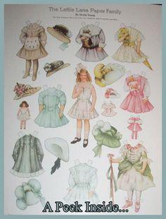 RARE Edwardian Lettie Lane Family Repro Uncut Paper Doll Book Set ...