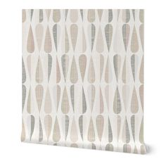 Commercial Grade Wallpaper 27ft x 2ft - Neutral Large Scale Mid Century Modern Mcm Traditional Wallpaper by Spoonflower