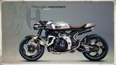 Racing Cafè: Cafè Racer Concepts - Suzuki GSX-R 1000 by Holographic Hammer Scooter Motorcycle, Moto Bike, Cafe Racer Motorcycle, Motorcycle Design, Brat Bike, Retro Motorcycle, Suzuki Gsx R 1000, Gsxr 1000, Suzuki Cafe Racer