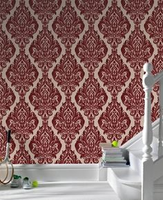 Kinky Vintage Bordeaux Bordello Wallpaper by Graham and Brown New for Fall 2011
