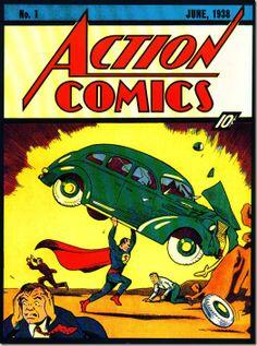 June 1 1938. First Superman Comic.