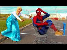 Spiderman & Frozen Elsa TROLLEY CRASH! w/ Maleficent Joker Disney Princess Anna Toys! Superhero IRL - YouTube Spiderman And Frozen, Princess Anna, Disney Princess, Elsa Frozen, Maleficent, Youtube, Joker, Wings, Superhero