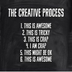 The Creative Process - Embracing Change...lol this is me when I'm doing something....although 7/10 times it stops at I'm crap haha