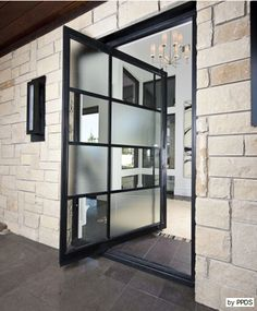 modern steel and glass entry doors - Google Search