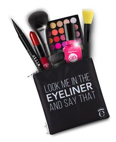 """""""Look Me In The EYELINER!"""" by nonniekiss ❤ liked on Polyvore featuring beauty, Trilogy, Stila, Sally Hansen, Gucci, NARS Cosmetics and Eyeko"""