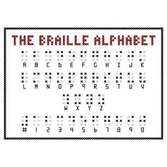 BRAILLE ALPHABET Cross Stitch Sampler Pattern. $5.00, via Etsy.