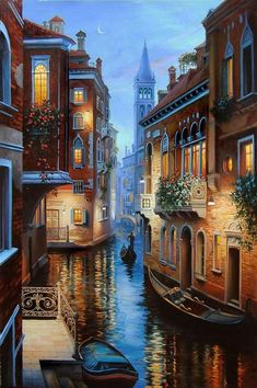 Where does one begin to start when discussing Italy. Well, if you intend to travel there, Rome and Venice are good places to start. Venice Painting, Italy Painting, Counted Cross Stitch Patterns, Cross Stitches, Beautiful Landscapes, Beautiful Places, Wonderful Places, Scenery, Around The Worlds