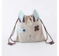 Lunch Bag. Animalunch conejito Andrés. 100% Handmade. byvalera.com