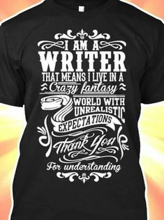 45 best Creative Writer images on Pinterest   Blouses  Sweater     writer s world tee shirt