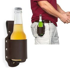 Du willst draußen Dein Bier trinken, bist aber viel zu sehr mit Grillen oder Wikingerschach beschäftigt? Der Leder Holster für Bier verstaut Dein Bier sicher für Dich :) via: www.monsterzeug.de