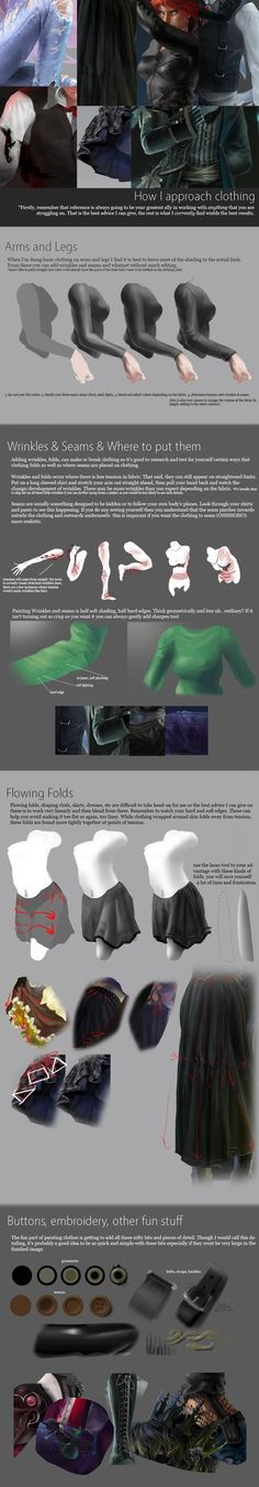 Requested Tutorial - Clothing by alexweeks.deviantart.com on @DeviantArt