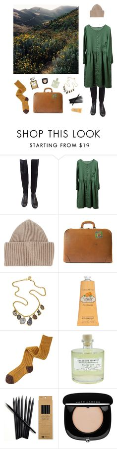 """""""suitcase full of flowers"""" by hasalam ❤ liked on Polyvore featuring Tory Burch, STELLA McCARTNEY, FOSSIL, Dara Ettinger, Crabtree & Evelyn, Mihoko Saito, Library of Flowers and Marc Jacobs"""