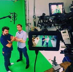 An awesome Virtual Reality pic! Wait it's Thursday?! I wanna #throwback to the day these two studs were virtual test stars. #sodreamy #tbt #production #tallgrasspictures #greenscreen #chromakey #virtualreality #vr #bts #redepic #lights #camera #action @niconumba @sponcor & @tallgrasspictures by jordang33 check us out: http://bit.ly/1KyLetq