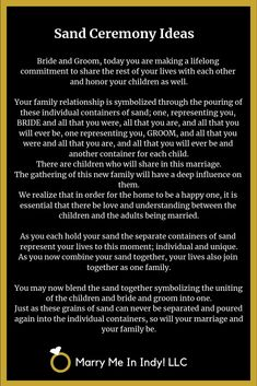 Unity Sand Ceremony scripts and ideas for your wedding. Unity Sand Ceremony scripts and ideas for your wedding. Wedding Ceremony Readings, Wedding Ceremony Script, Wedding Rituals, Wedding Ceremonies, Love Quotes For Wedding, Wedding Ideas, Wedding Blog, Wedding Planning, Unity Sand