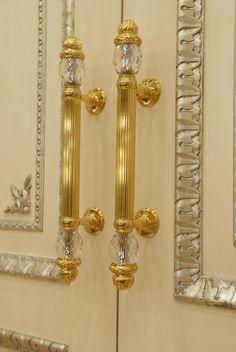 door handles bronze with gilding plus the swarovski crystals luxurious classics in a