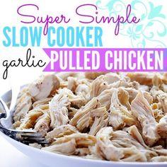 @KellDuckKan » Kells Kitchen: Slow Cooker Garlic Pulled #Chicken #Recipe