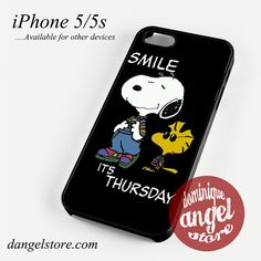 Snoopy Smile its Thursday Phone case for iPhone 4/4s/5/5c/5s/6/6 plus