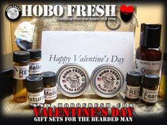 Valentine's Day Beard Care Gift Set - Sweetheart - https://www.hobofresh.com/shop/sample-kit/valentines-day-beard-gift-set-sweetheart/