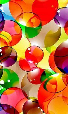 Burbujas de colores.