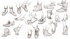 croquis pieds chaussures talons converse ballerines