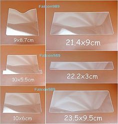 6pc Leathercraft Acrylic Perspex Short Wallet  Pattern Stencil Template Tool Set