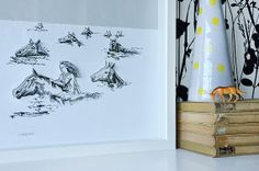 Swimming with the Horses Large Handcut 3D art by whistleandwork