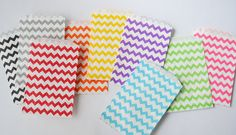 Chevron Paper Bags on Etsy, $2.97 AUD