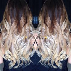 I would like this, but reversed! With the blonde on the top