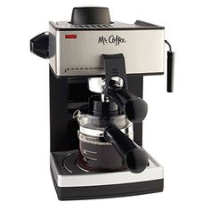 Make delicious coffeehouse style drinks at home with the Mr. Coffee® Café Espresso Steam Espresso and Cappuccino Maker. Be your own barista and cre...