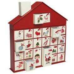 style Christmas house advent calendar, 24 individual boxes with space for sweets and small toys small box size 4 x 4 x large boxes 4 x 4 x Material: cardboard/ribbon Dimensions: Length: 26 cm, Width: 4 cm, Height: 28 cm London Christmas, Noel Christmas, Modern Christmas, Christmas Crafts, Christmas Decorations, Christmas Ideas, Christmas Stuff, Christmas Vacation, Christmas Goodies