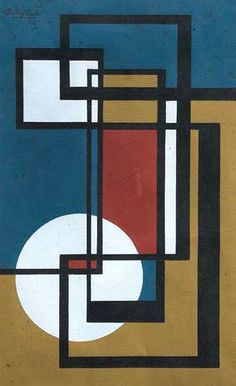 José Pedro Costigliolo, Composition At the forefront of the modernist art movement in Uruguay. Motif Art Deco, Art Deco Design, Toile Design, Modern Art, Contemporary Art, Composition Art, Abstract Geometric Art, Mid Century Art, Abstract Photography