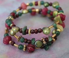 Emerald Ruby Pearl and Garnet Rock Kandy by PyromancerDesigns