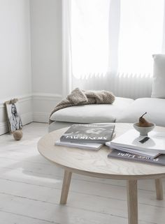 White wash wood floors, minimal design