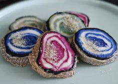 Naturally dyed geode agate gemstone sugar cookies