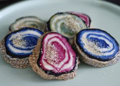 Naturally dyed geode agate gemstone sugar cookies